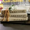 DIY Coffee Table Rustic Stamped Books