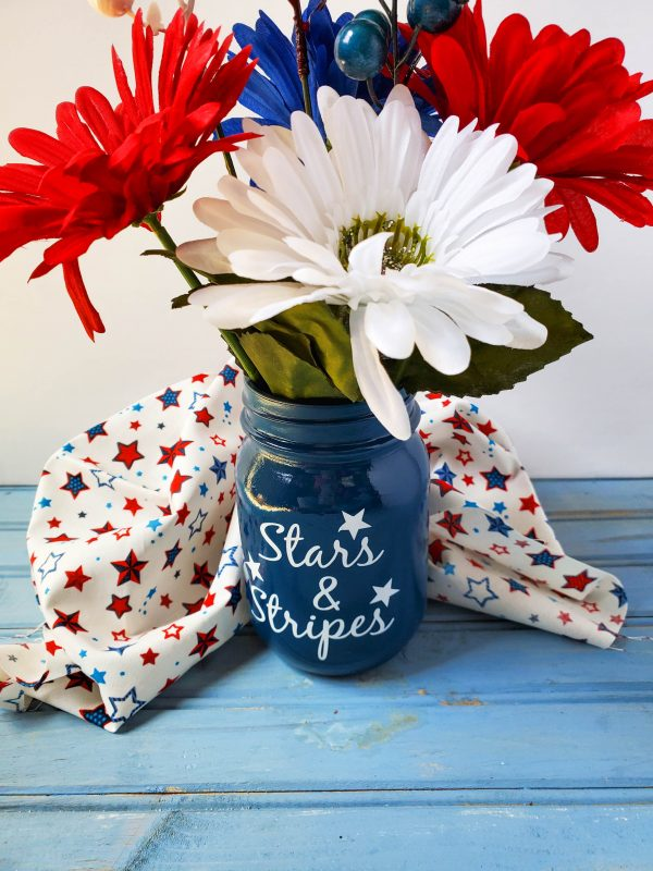 Stars & Stripes 4th Of July Mason Jar – Cricut Craft