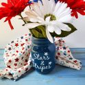 Stars & Stripes 4th Of July Mason Jar - Cricut Craft