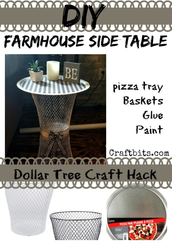 Dollar Tree Basket Side Table