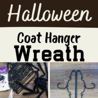 Halloween Coat Hanger Wreath