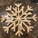 Dollar Tree Jenga Block Christmas Snowflake