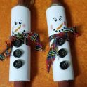 Kids Craft - Rolling Pin Snowman