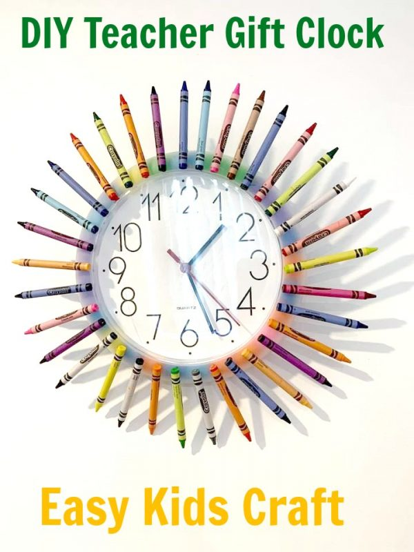 Teacher Appreciation Gift – Crayon Clock