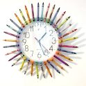 Teacher Appreciation Gift - Crayon Clock