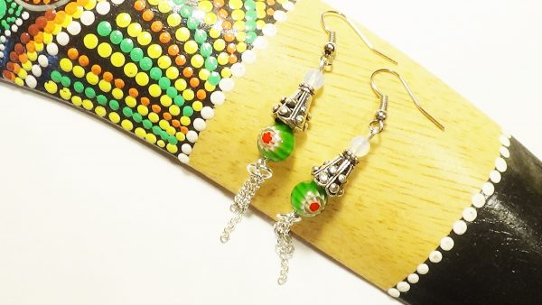 DIY Handmade Murano Glass Millefiori Earrings