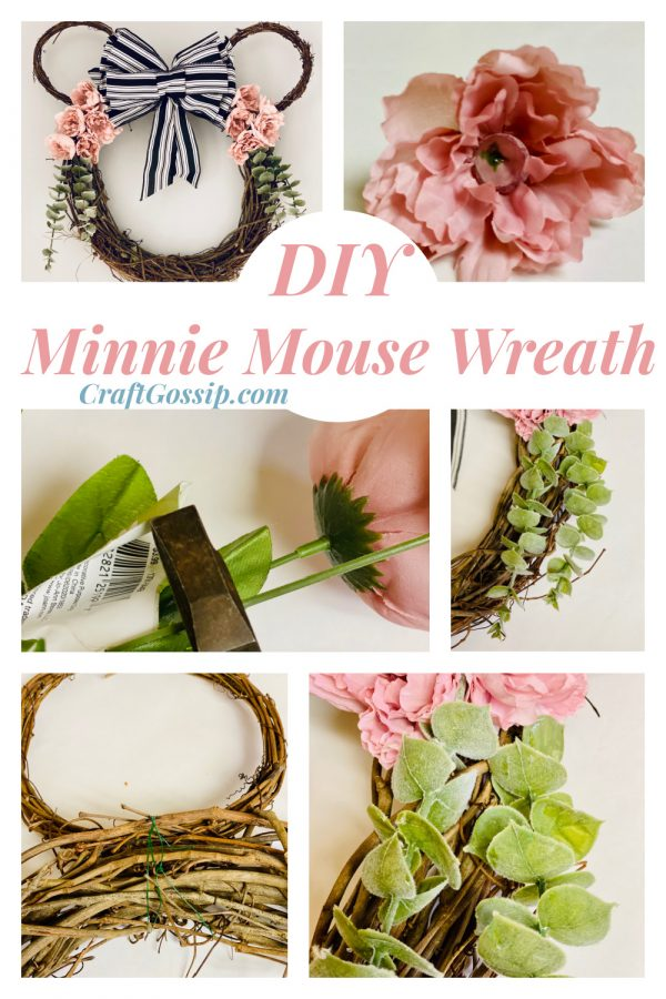 Floral Minnie Mouse Door Wreath