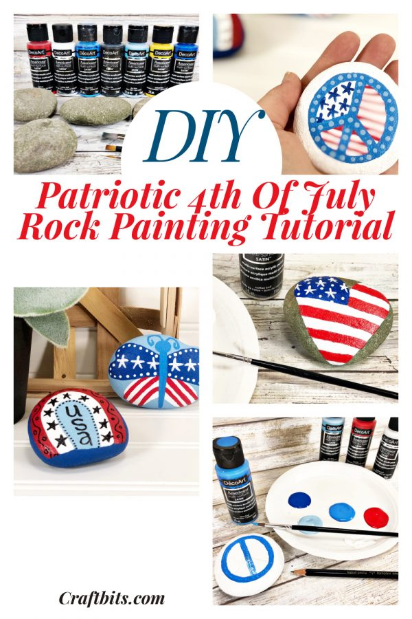 4th Of July Patriotic Painted Rocks