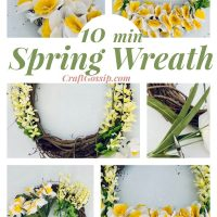 10 Min Daffodil Spring Time Wreath