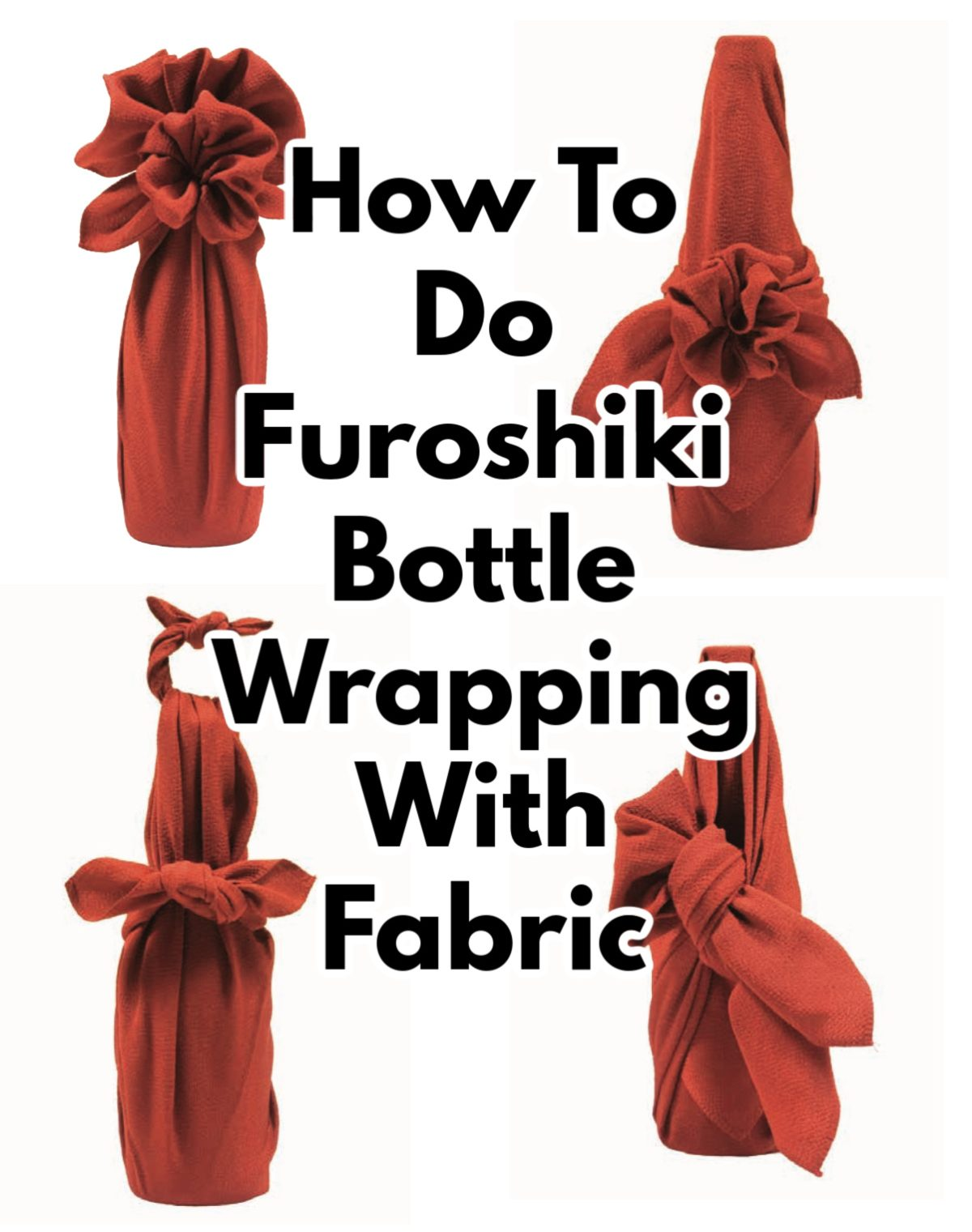 Learn how to Christmas gift wrap with fabric (Furoshiki) with these simple steps