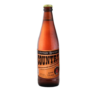 Robertson Brewing Co, Country Light Blond Ale, Low Alcohol 2.5% ABV