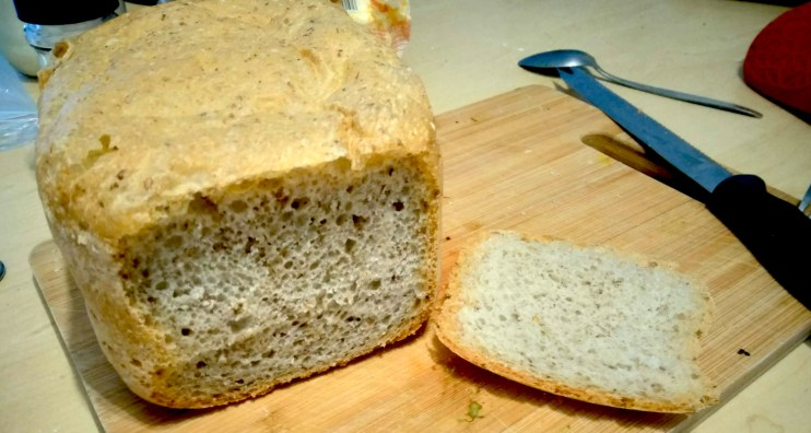 Spent Grain Bread baked with the Mellerware Ma Baker Bread Maker