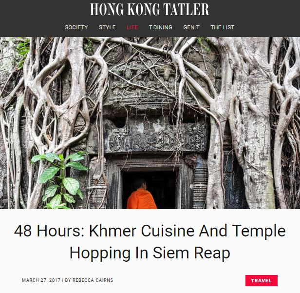 Heritage Suites Hotel luxury travel pr case study media coverage - Tatler, Hong Kong