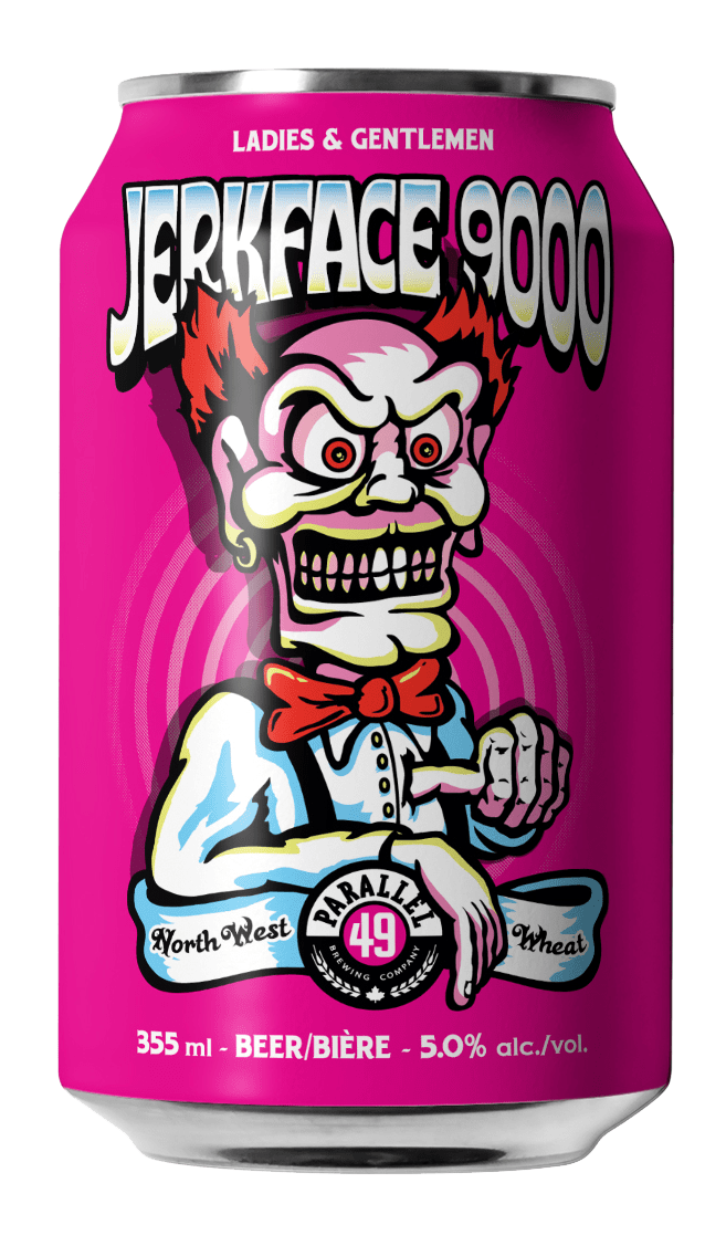 Steve Kitchen Jerkface9000 craft can design for Parallel 49 Brewing, Vancouver
