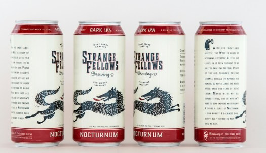 Vancouver Brewery, Strange Fellows, Beer can design by Christine Moulson