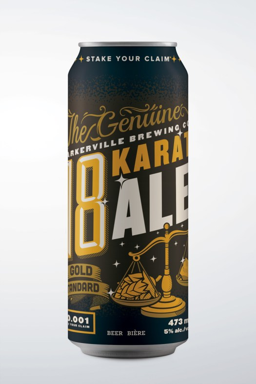 Barkerville brewing co craft beer can design by bully design co, victoria, bc