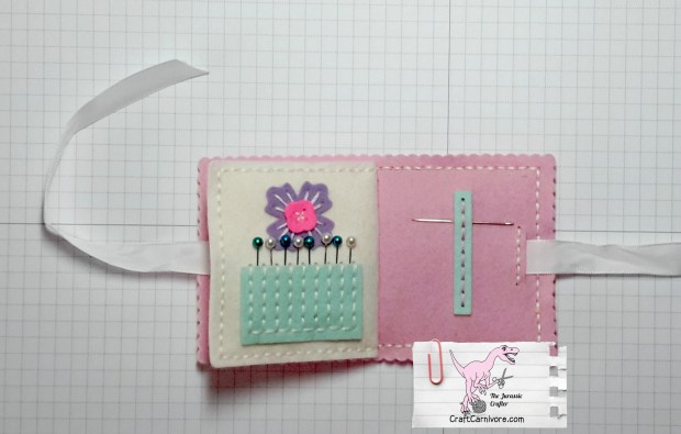 Papertrey Ink Needle Book made with Sewing Staples