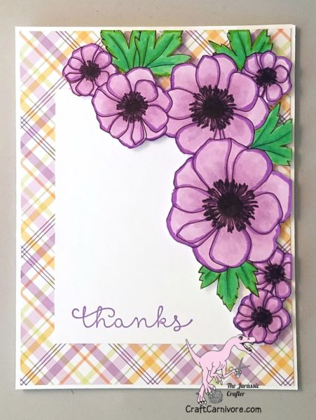 Stampin Up Cottage Greetings Thank You Idea - The Jurassic Crafter stampinup