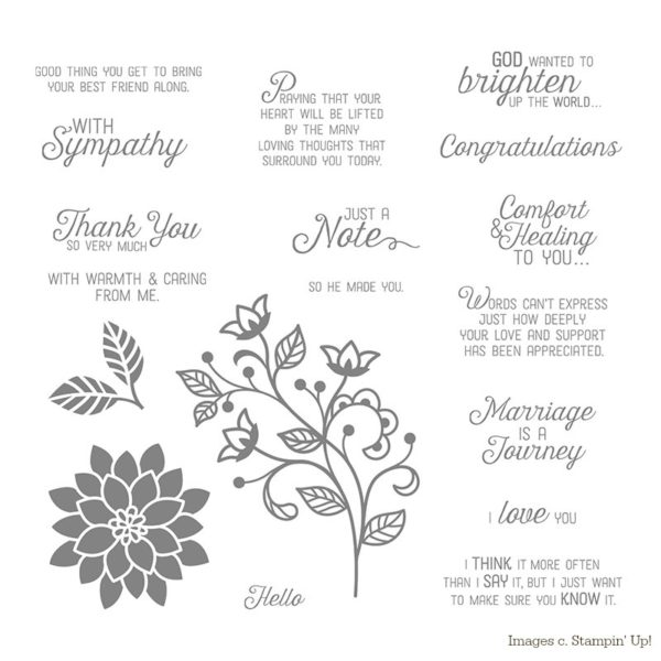Stampin Up Flourishing Phrases Sympathy Card - the Jurassic Crafter #stampinup