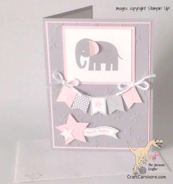 Baby Girl Card by the Jurassic Crafter for CraftCarnivore