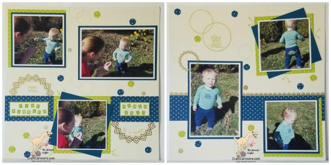 Pals Blog Hop April 2017 Eastern Palace Layout Stampin' Up! The Jurassic Crafter www.craftcarnivore.com