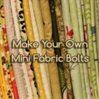 How to Make Mini Fabric Bolts for your Craft Room