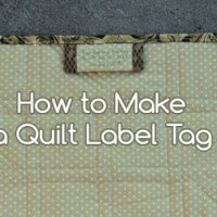 How to Make a Quilt Label Tag
