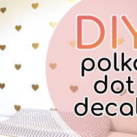 How to Evenly Space Decals to Make a Polka Dot Wall