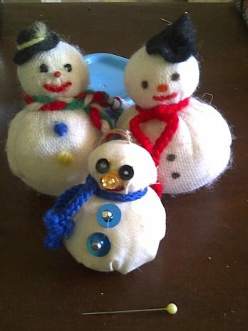 Snowman Trio fabric