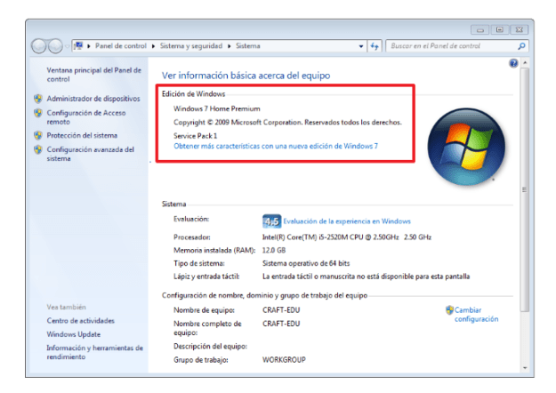 Edicion de Windows 7