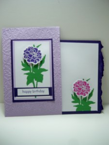Inside purple envelope card