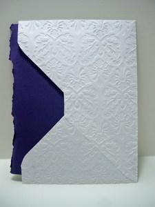 White envelope back