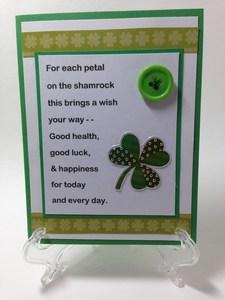 St Patricks poem card