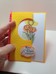 easter tulip card