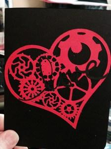 mini-Love gear heart