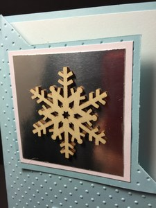 Birthday snowflake card close up