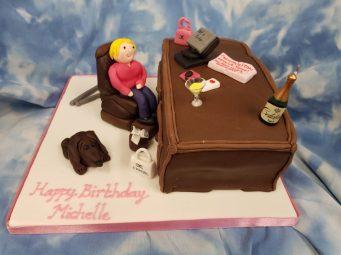 Womens Cake Office Birthday Cake