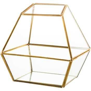 Quad Gold Glass Terrarium