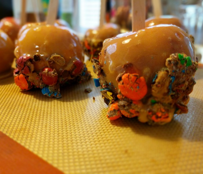 Candy Cauldron Caramel Apples
