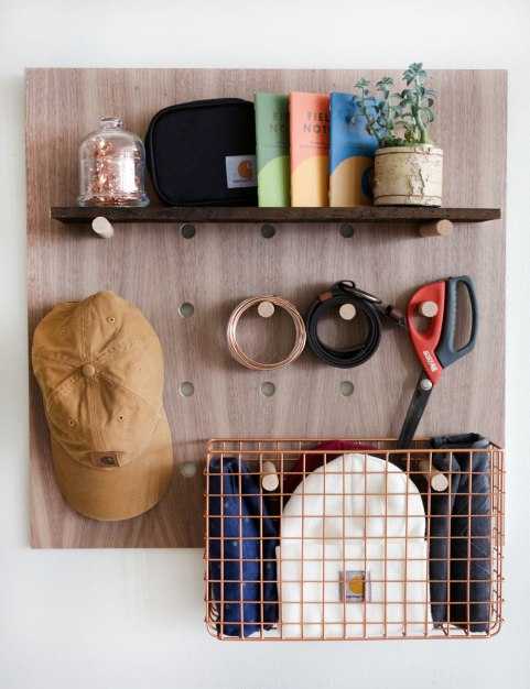 DIY Peg Board Storage / Crafted in Carhartt