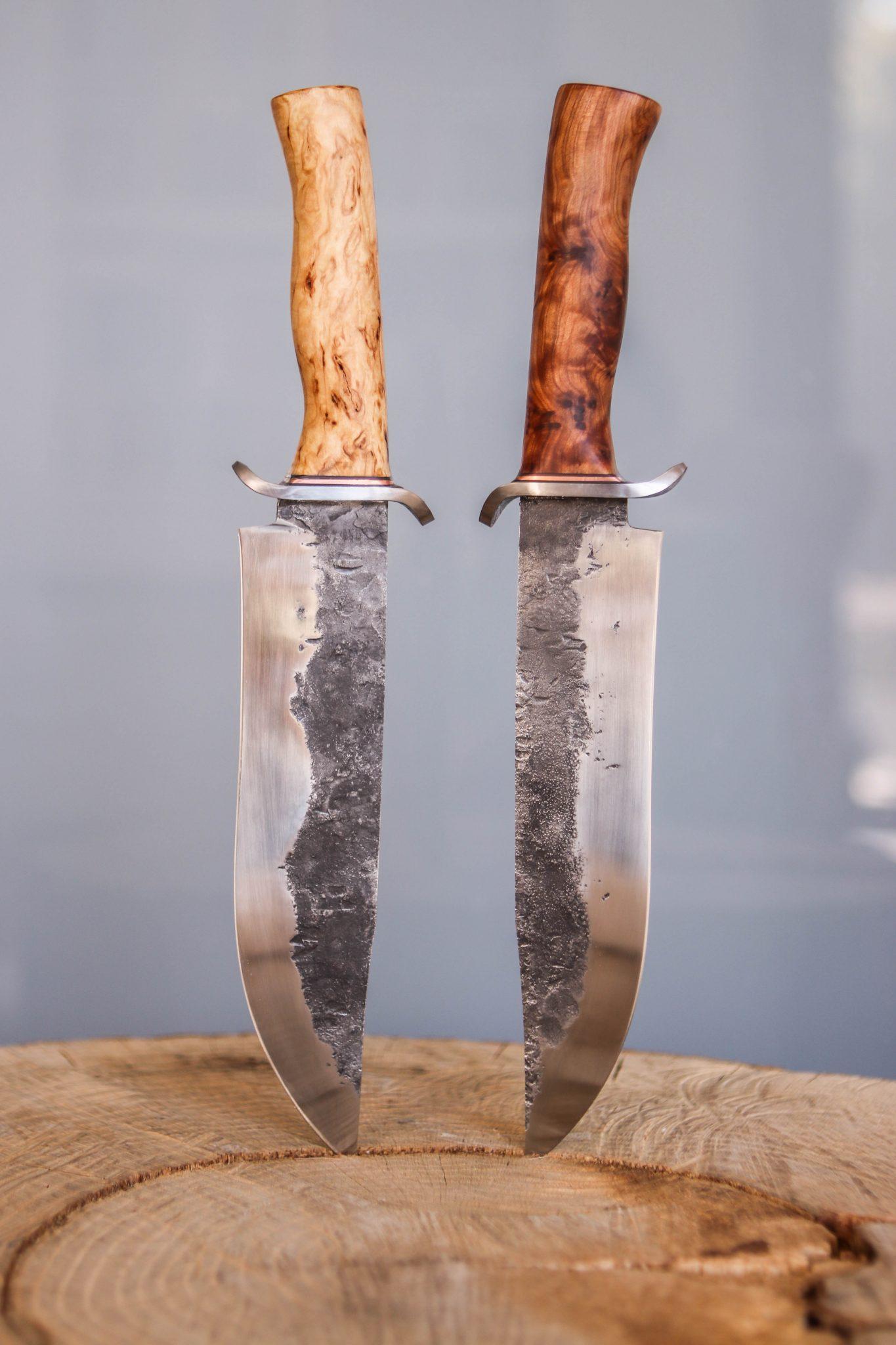 Lander Verschueren mes messen zelfgemaakt handgemaakt wapen smeden smid leer leren leder hoes schede bowie