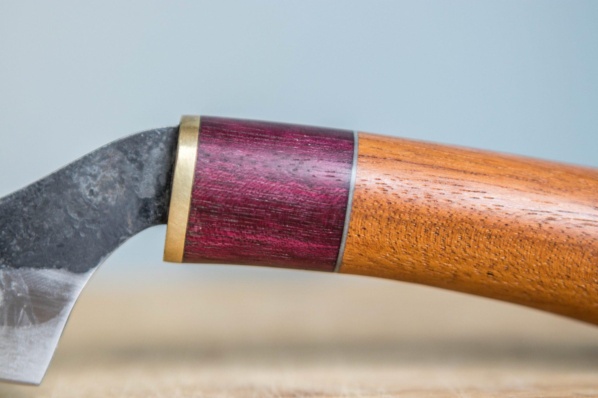 Lander Verschueren mes messen zelfgemaakt handgemaakt wapen smeden smid leer leren leder hoes schede kaasmes
