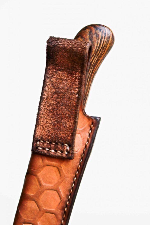 Close-up lederen schede lus voor riem