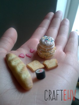 My attempt at mini food, with Natalie's mini sushi!