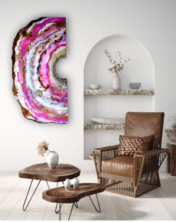 Resin Geode Painting for sale