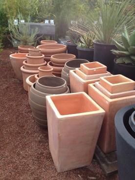 assorted pots.