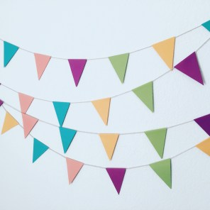 colorful bunting.