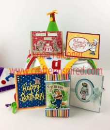 Free Tutorials for these projects with purchase of Birthday Delivery Bundle from Stampin Up Demonstrator Lynda Falconer at www.lyndafalconer.stampinup.net