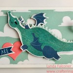 Dragon valentine by Lynda Falconer with Myths and Magic Specialty Designer Paper by Stampin Up at www.lyndafalconer.stampinup.net