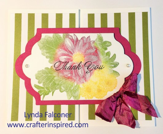 Use daubers to color the Heartfelt Blooms and stamp an image with multiple colors. Designed by Lynda Falconer at www.crafterinspired.com.